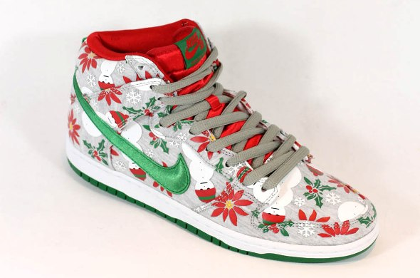 durable modeling Nike SB Dunk High Premium 8211 White Ugly Christmas Sweater Release Info