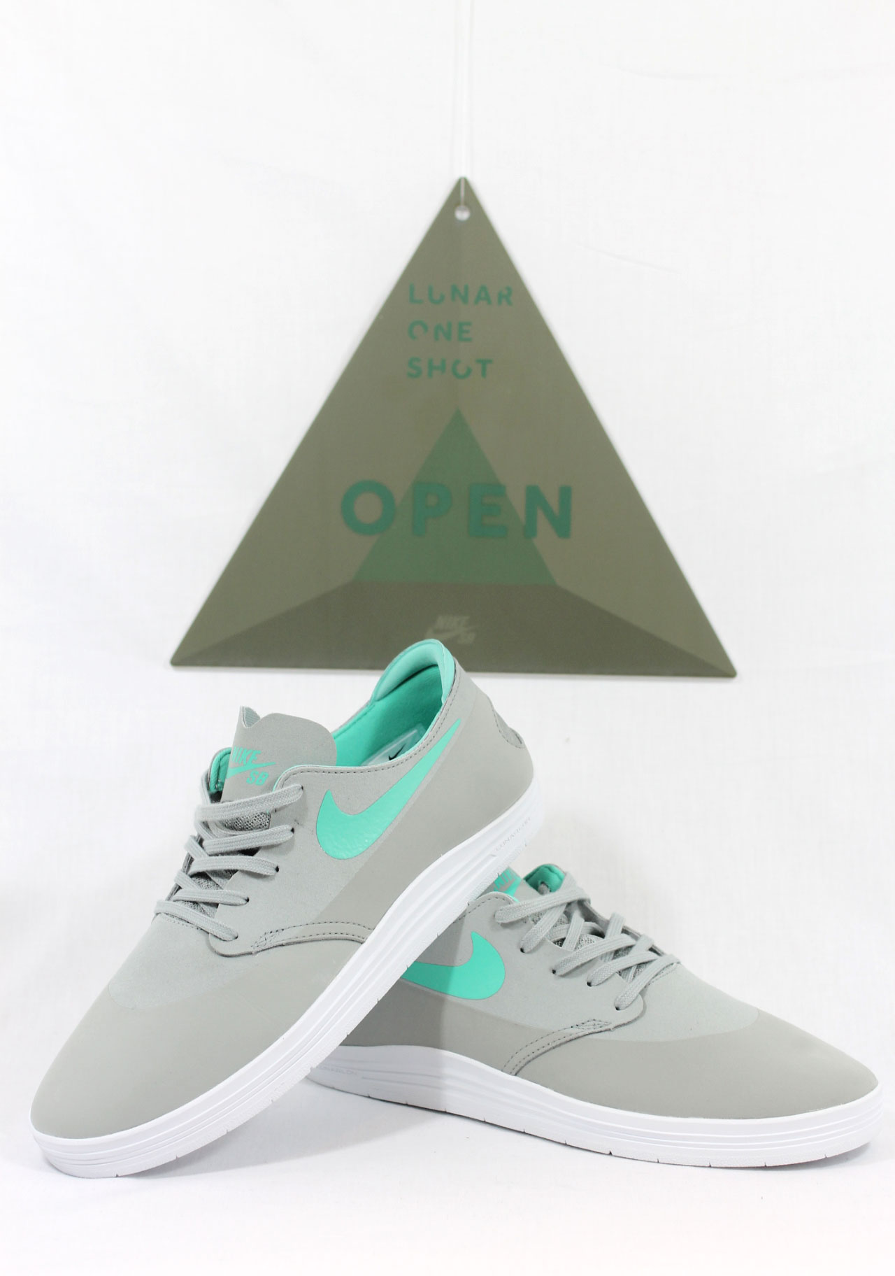 the best attitude c7407 a1a1c Nike SB Lunar One Shot 8211 Base Grey  Crystal Mint Release Info durable  modeling