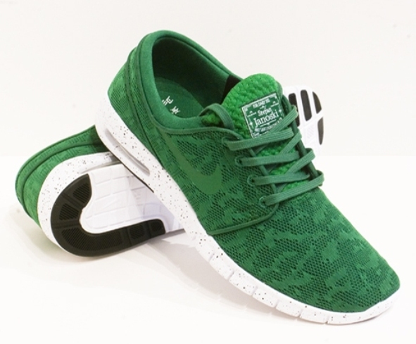nike sb stefan janoski max pine green release info. Black Bedroom Furniture Sets. Home Design Ideas