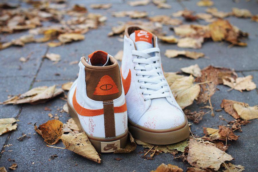 hot sale Poler x Nike SB Blazer 8211 Off White  Brown-Orange Canvas Release a05395af3247