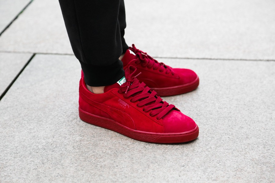 all red puma classic