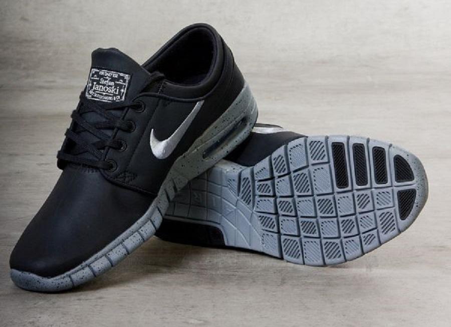 Nike SB Stefan Janoski Max NYC Edition Sneakers (Black/Cool Grey-Metallic Cool Grey)