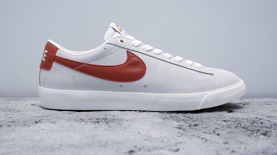 nike blazer low red white