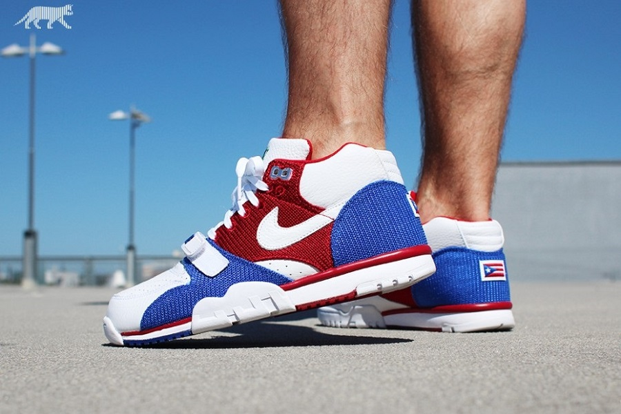 sports shoes 08137 35cd2 ... Nike Air Trainer 1 Mid Premium QS – Puerto Rico Release InfoNike Air  Trainer 1 Mid ...
