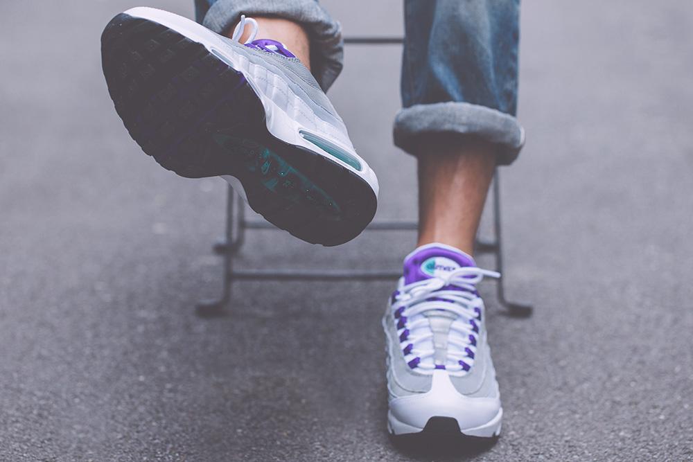 Nike Air Max 95 White On Feet
