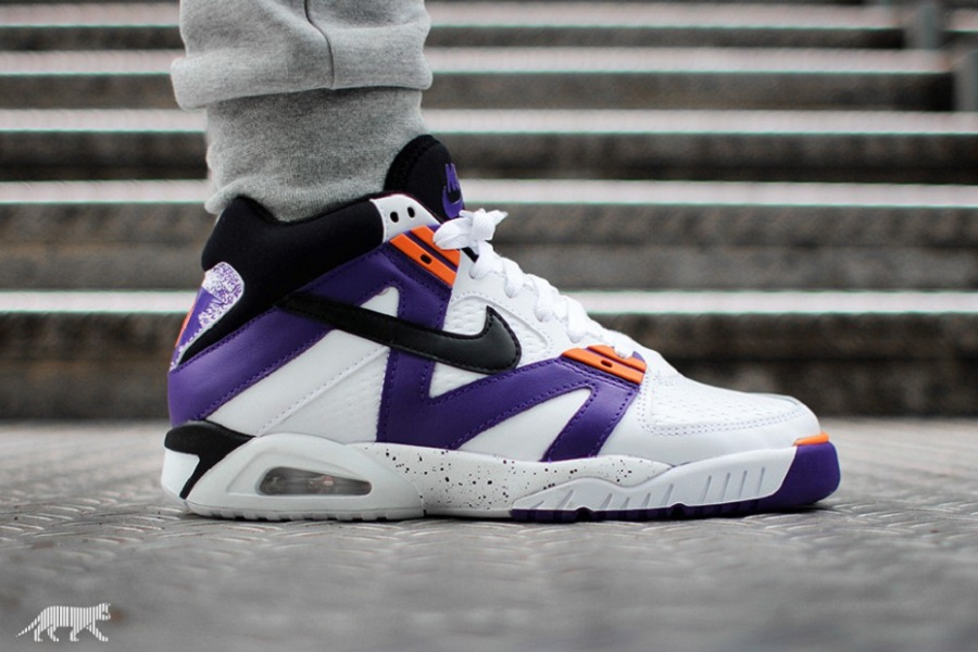 Big Discount Nike Air Tech Challenge III White/Black-Voltage Purple-Bright Mandarin