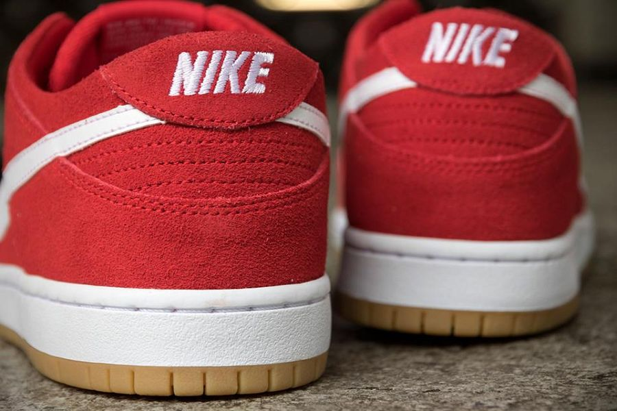 nike dunk low red white