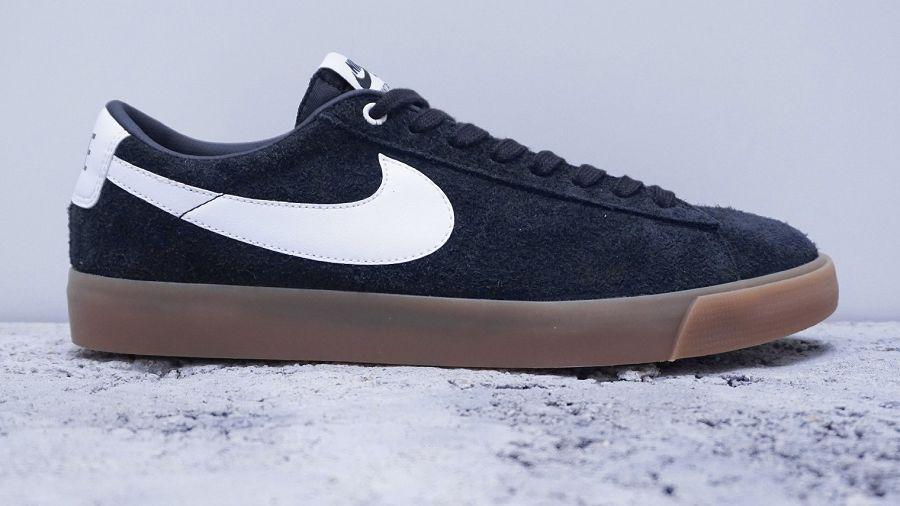 new concept 4df99 40b7e ... best price france nike sb blazer low gt black gum suede skate shoes  6d2ff bd039 54c0e