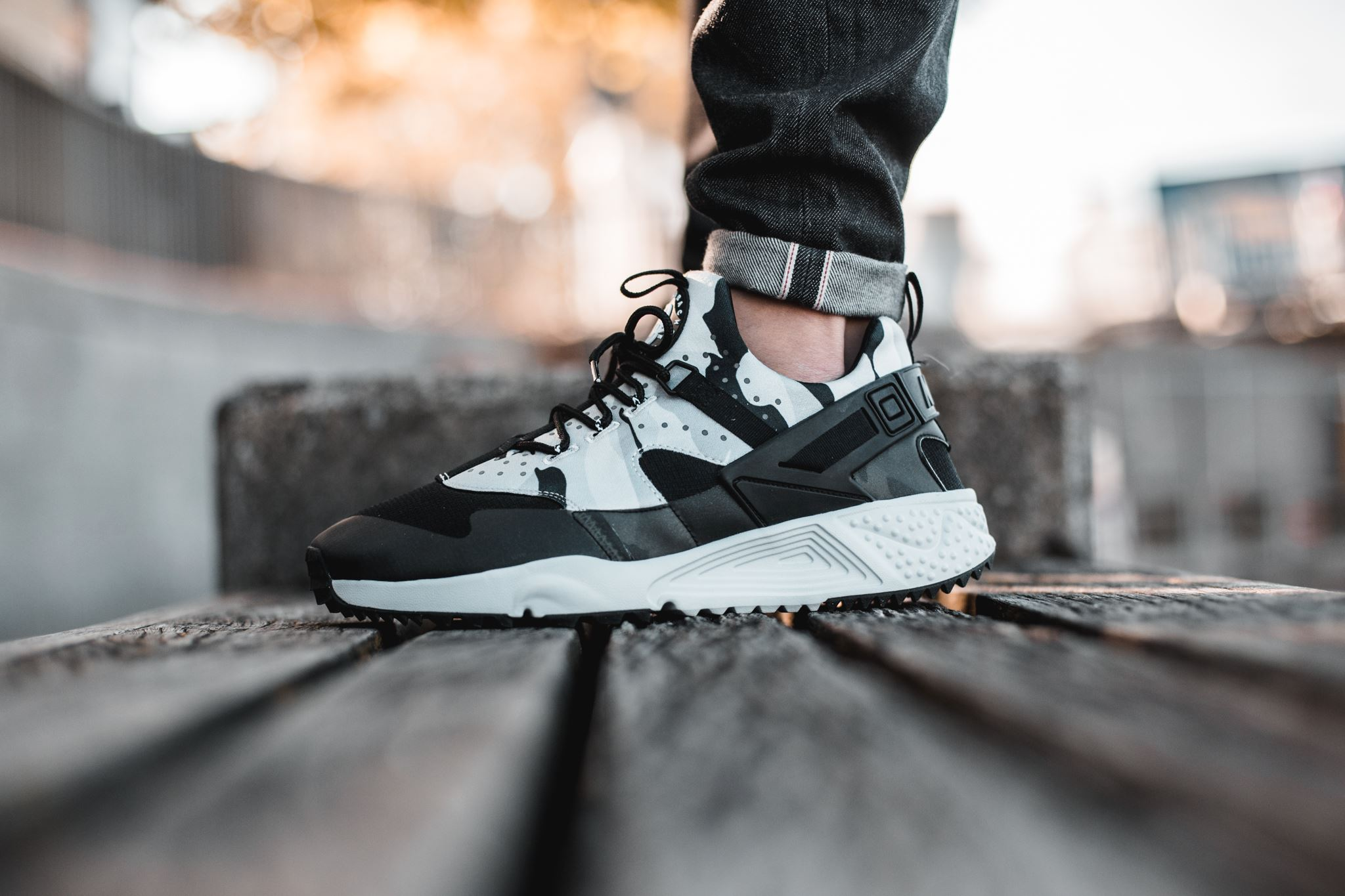 Nike Air Huarache Utility: In late 2015 the Huarache Utility was released  with a modified sole but with the classic heel strap and also a one part  neoprene ...