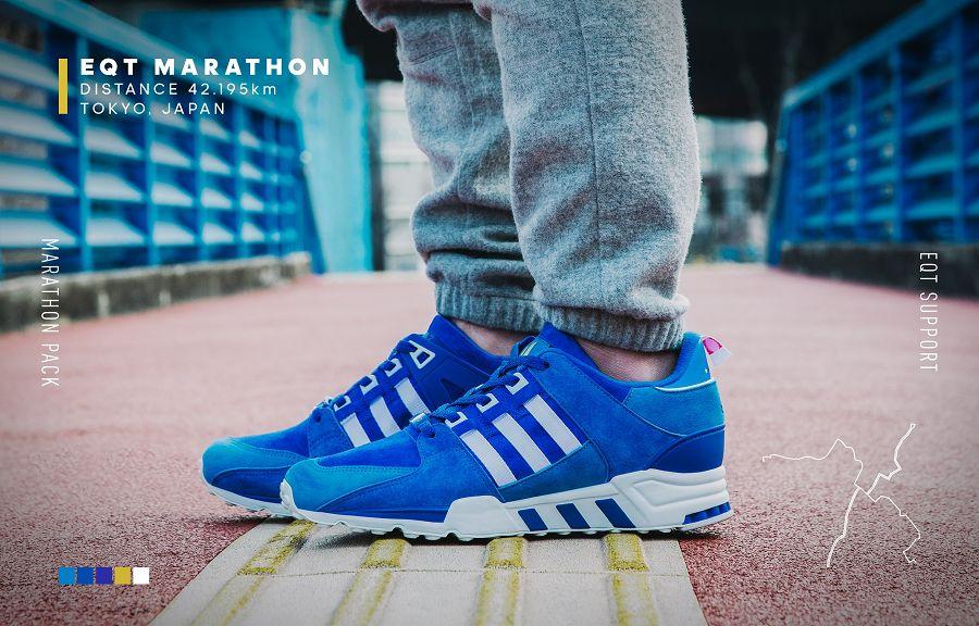 Adidas Eqt Running Support 93 Blue