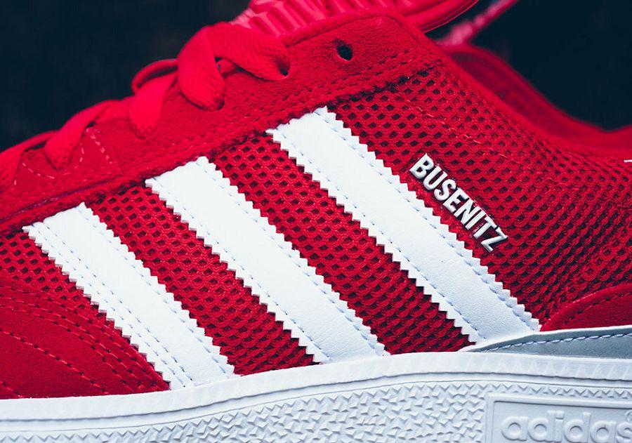 k adidas busentiz mesh suede red white 5
