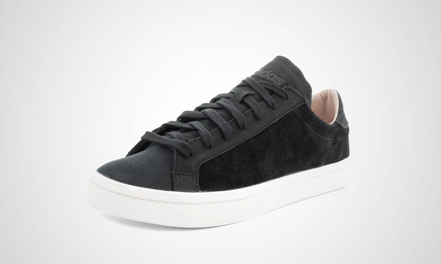 adidas court vantage black white release info. Black Bedroom Furniture Sets. Home Design Ideas
