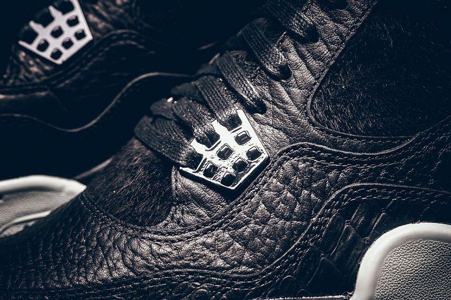 Air Jordan 4 Retro Premium 8211 Black  Black  Sail Detailed Images durable  modeling 8b8caf022