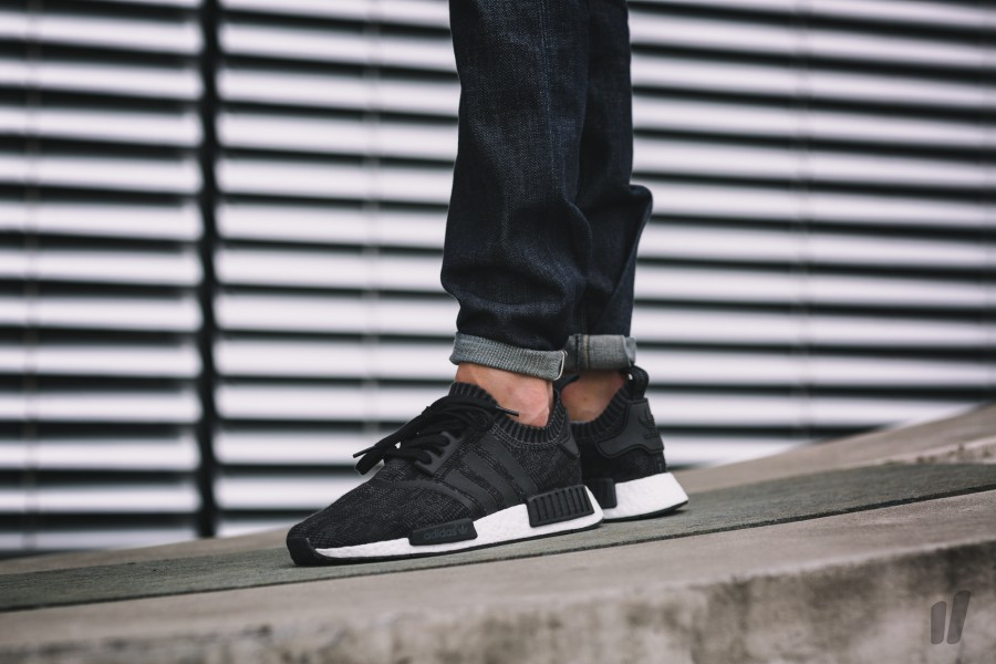 adidas NMD R1 PK Primeknit Core Black White Boost Ultra S81847