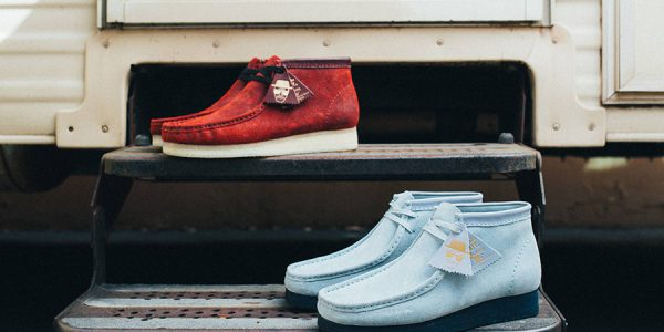 "BAIT x Breaking Bad Clarks Wallabees ""Felina"" and ""Blue Sky"""