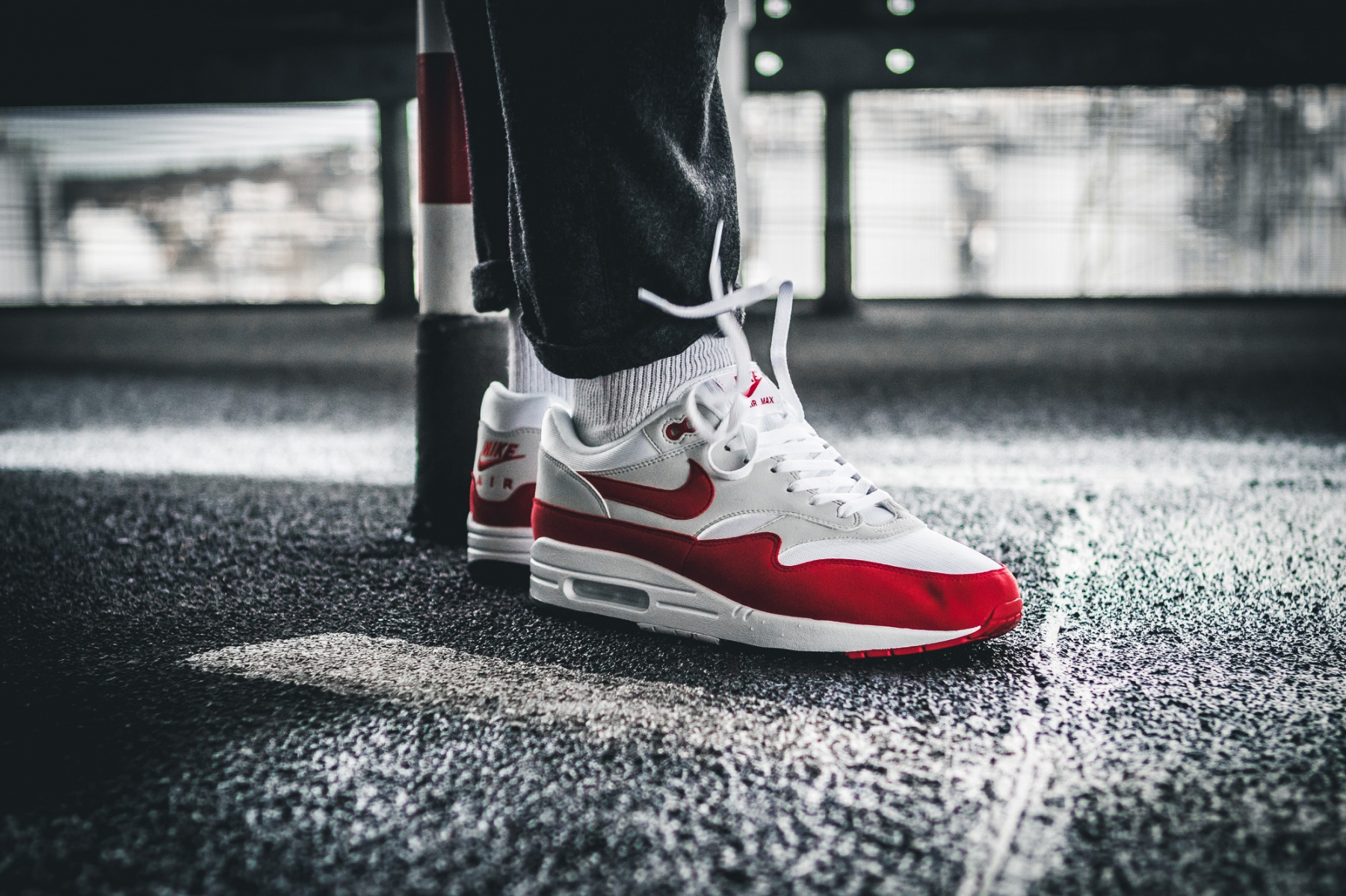 "19c57af2a5 ... University Red & Neutral); On Feet Look – Nike Air Max 1 OG ""Anniversary""  – Sneakers ."