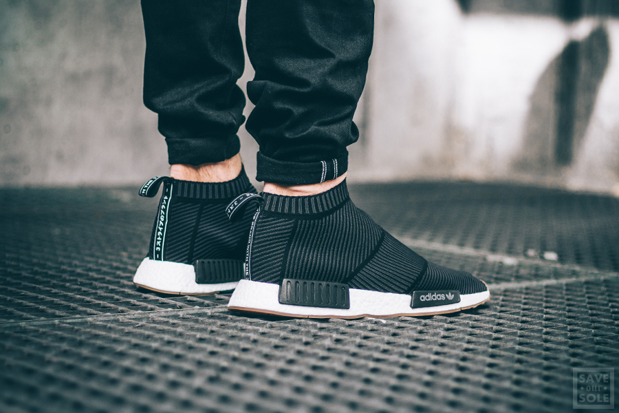 Cheap Adidas NMD R1 Nomad Runner Charcoal Grey Mesh Monochrome