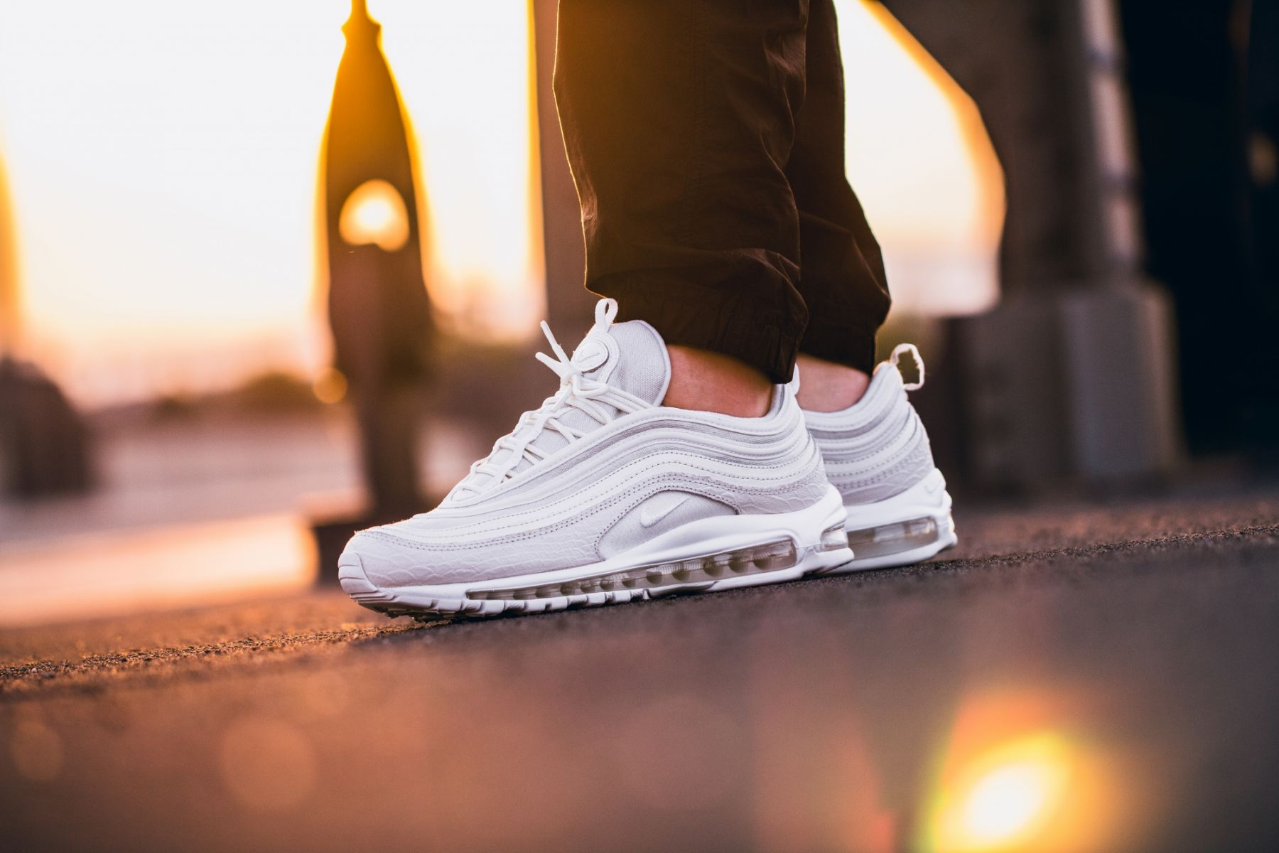 "half off 23bbb 79ab1 ... Yellow Black White Nike Air Max 97 ""Summit White"" ..."