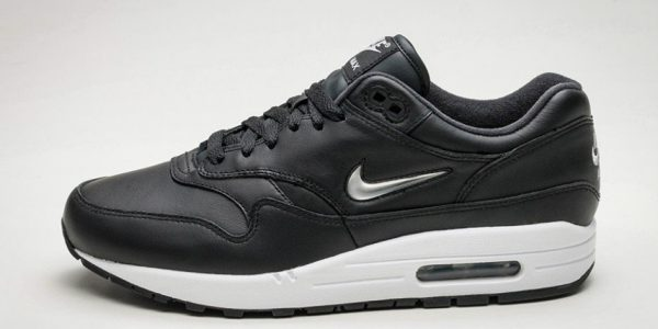 "Nike Drops the Air Max 1 ""Jewel Swoosh"" in Black"