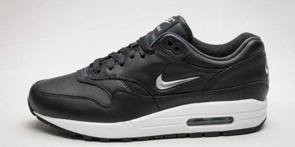 "Nike Drops the Air Max 1 ""Jewel Swoosh"" in Black"