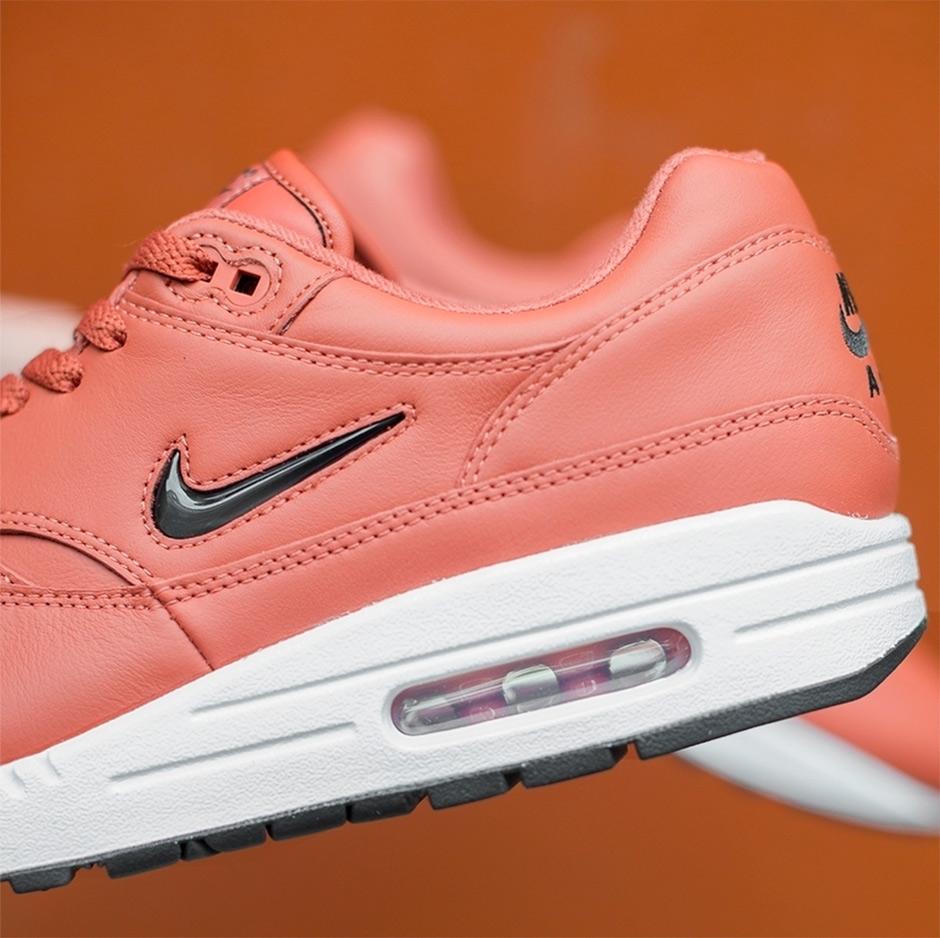 nike air max 1 premium sc jewel swoosh pink sneakers