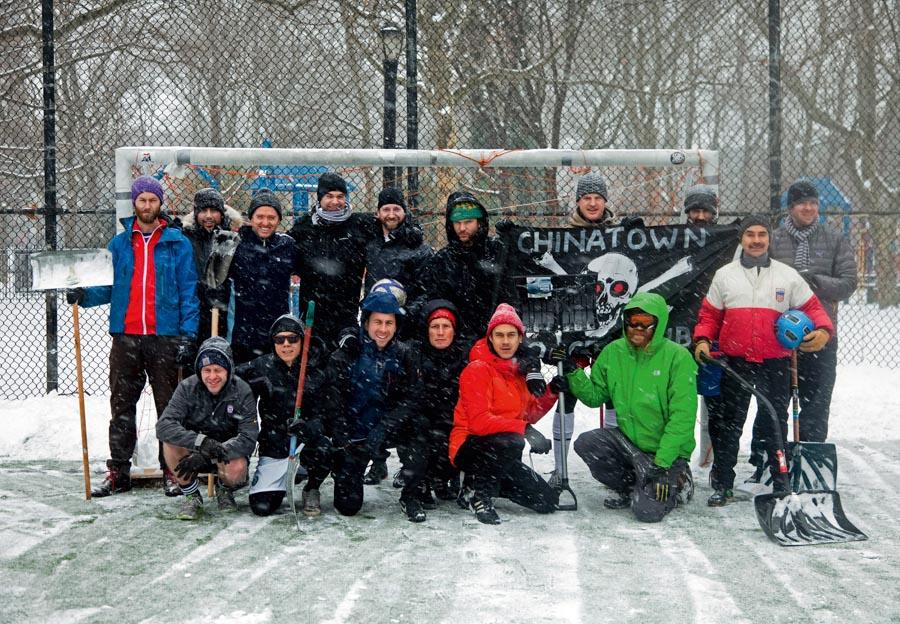 Chinatown Soccer Club - CSC Football Pitch in New York - Winter Warriors by Pep Kim (2012)