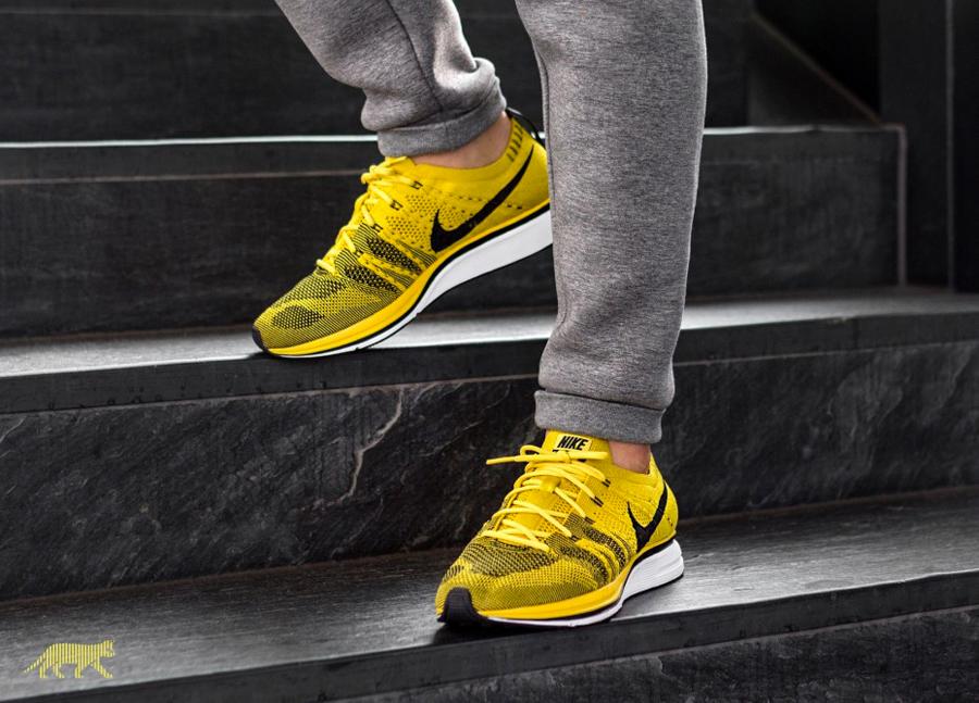 Sneaker Releases in October 2017 - Nike Flynit Trainer Bright Citron Black White