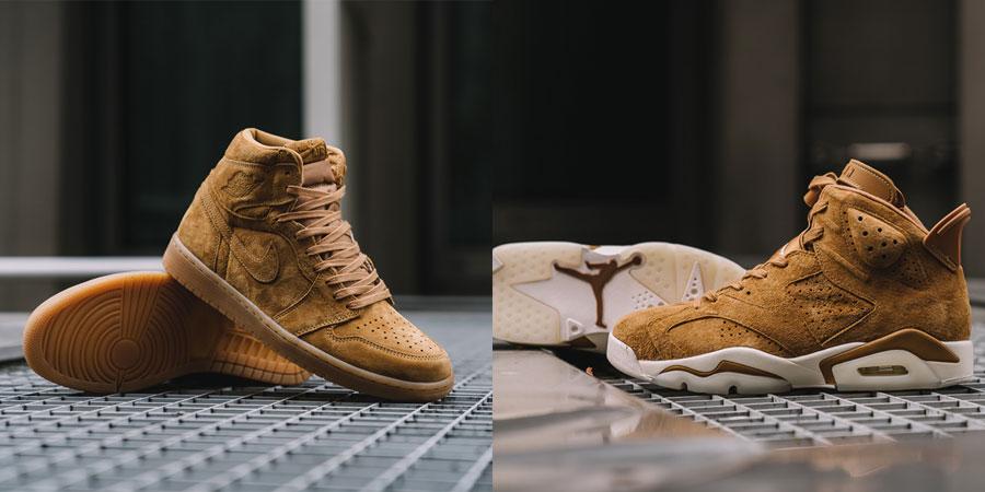 Sneaker Releases October 2017 - Nike Air Jordan 1 and 6 Wheat Pack