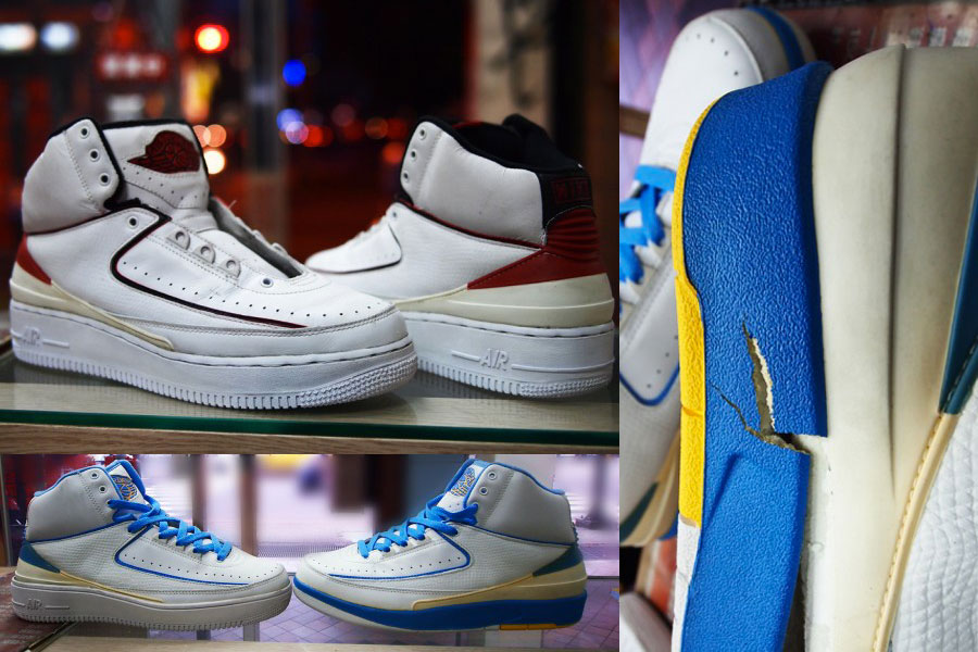 Sneaker Sole Swap - Nike Air Jordan 2 and Air Force 1