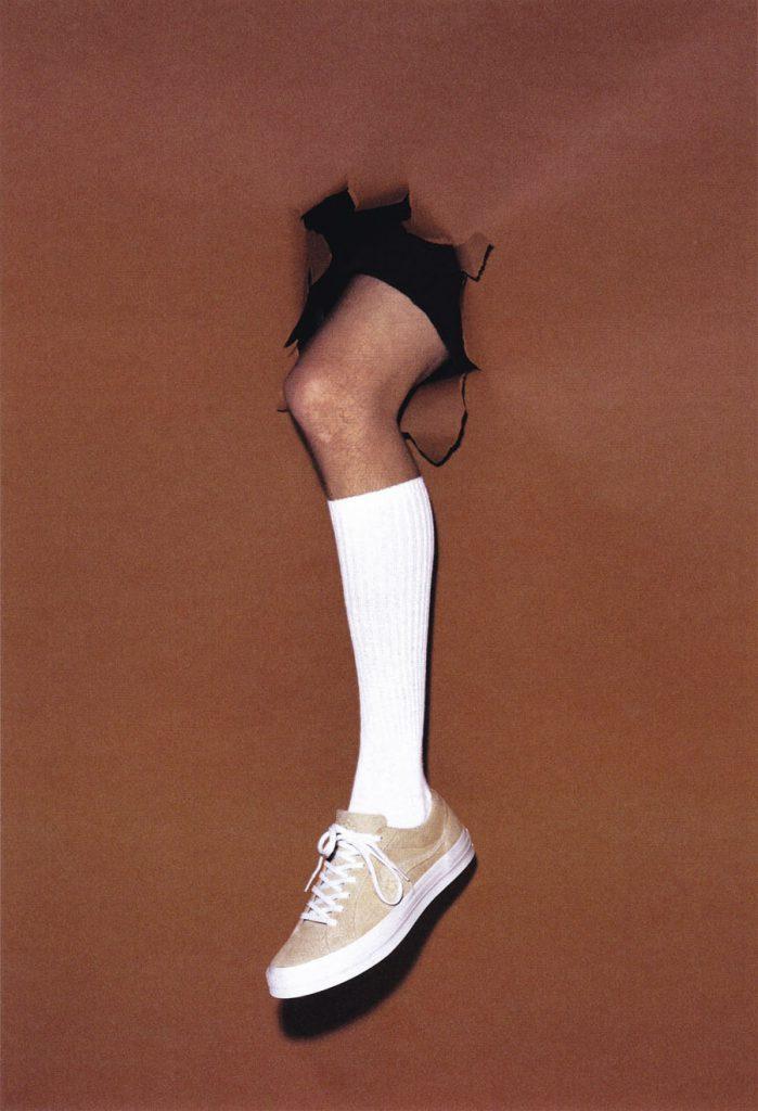 Tyler The Creator x Converse GOLF le FLEUR Vanilla (On feet)