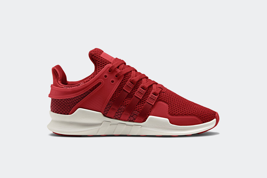 adidas EQT Support ADV Snakeskin - Red (Side)