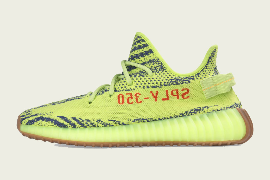 adidas YEEZY BOOST 350 v2 (Semi Frozen Yellow / Raw Steel / Red)