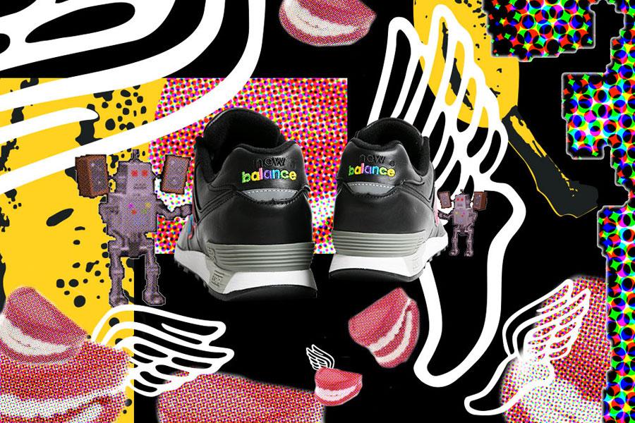 Footpatrol x New Balance M576FPF - Back