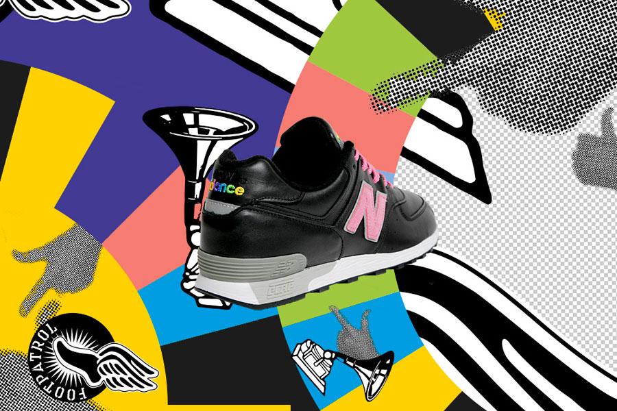Footpatrol x New Balance M576FPF - Heel