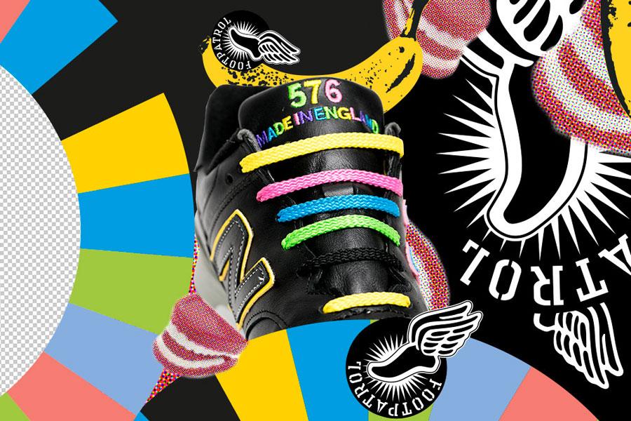 Footpatrol x New Balance M576FPF - Laces