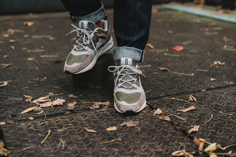 Karhu Mount Saana Pack 2017 - Fusion 2.0 Olive Night Taupe - On feet (Tongue)