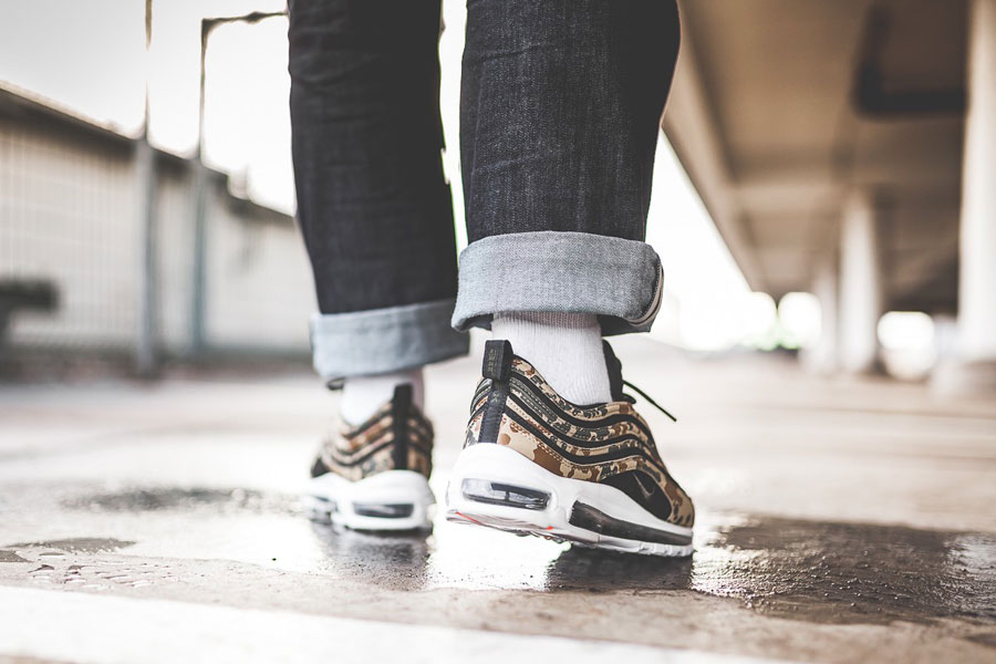 Nike Air Max 97 PRM Country Camo Pack Germany - On feet (Back)