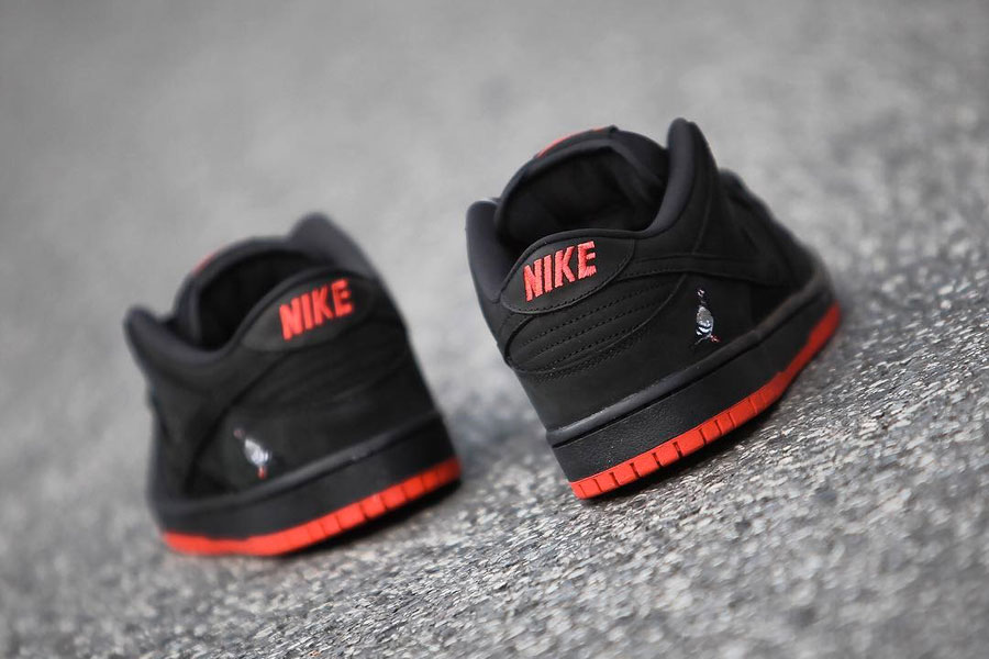 Nike SB Dunk Low Black Pigeon (Back)