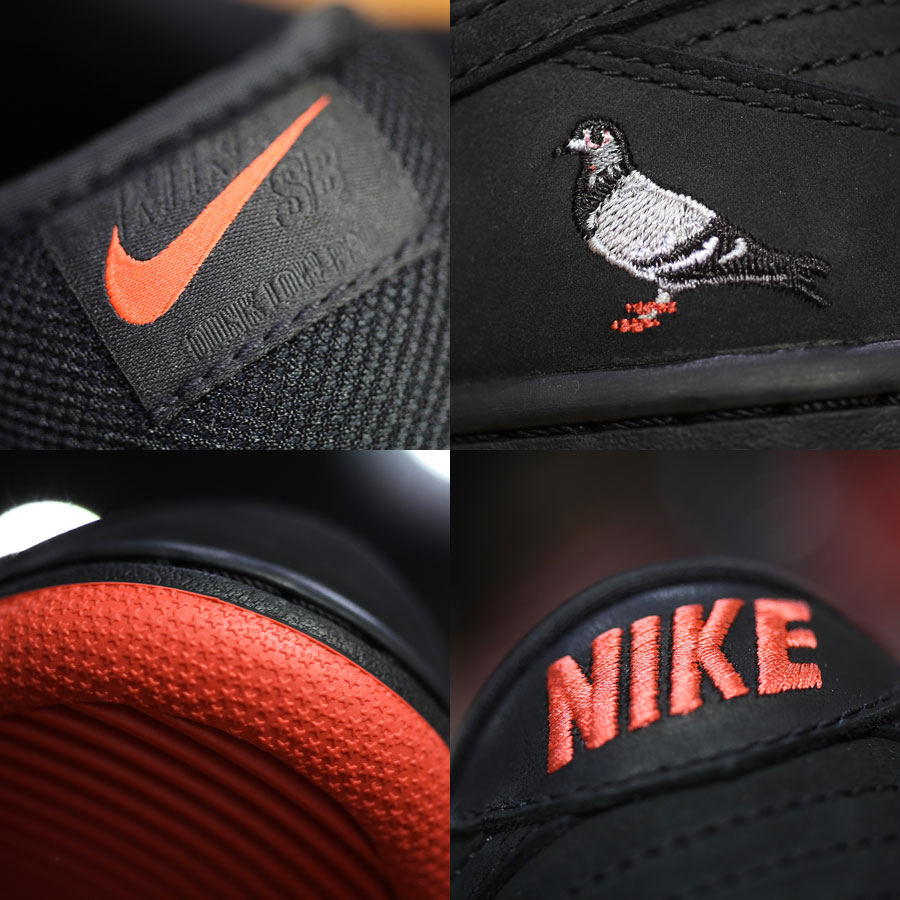 Nike SB Dunk Low Black Pigeon (Details)