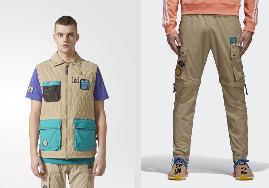 Pharrell adidas Hu NMD TR Hike Collection - Vest and Cargo Pants