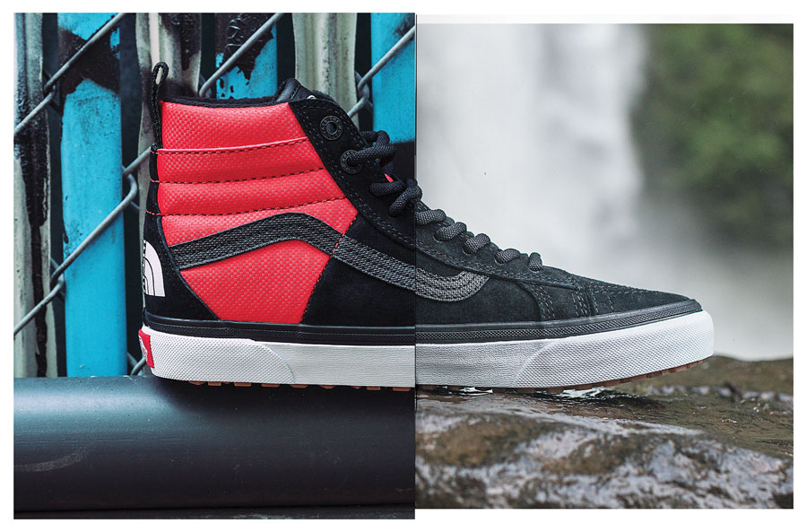 VANS x The North Face 2017 Fall Collection - Sk8-Hi (Black and Red)
