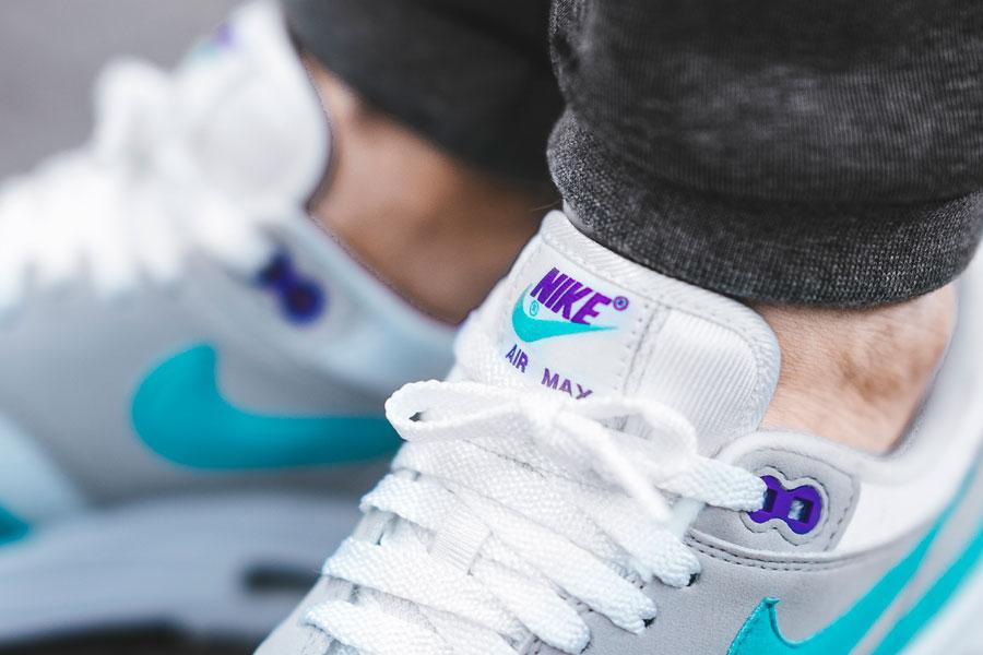 Nike Air Max 1 Anniversary White Aqua (Tongue)