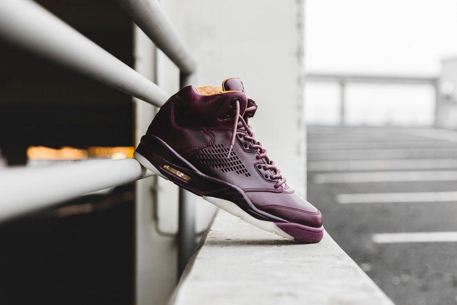 Sneaker Releases in December 2017 - Nike Air Jordan 5 Retro Premium Bordeaux Pinnacle