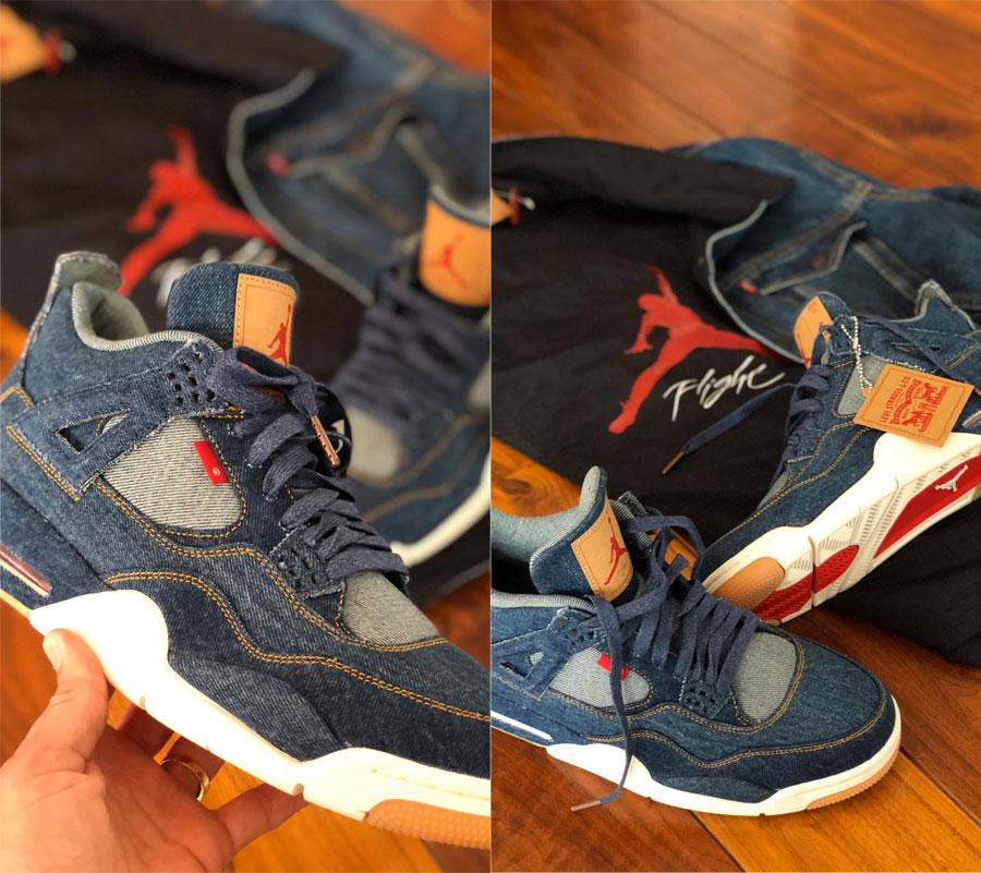 Levis x Nike Air Jordan 4 Denim Pack