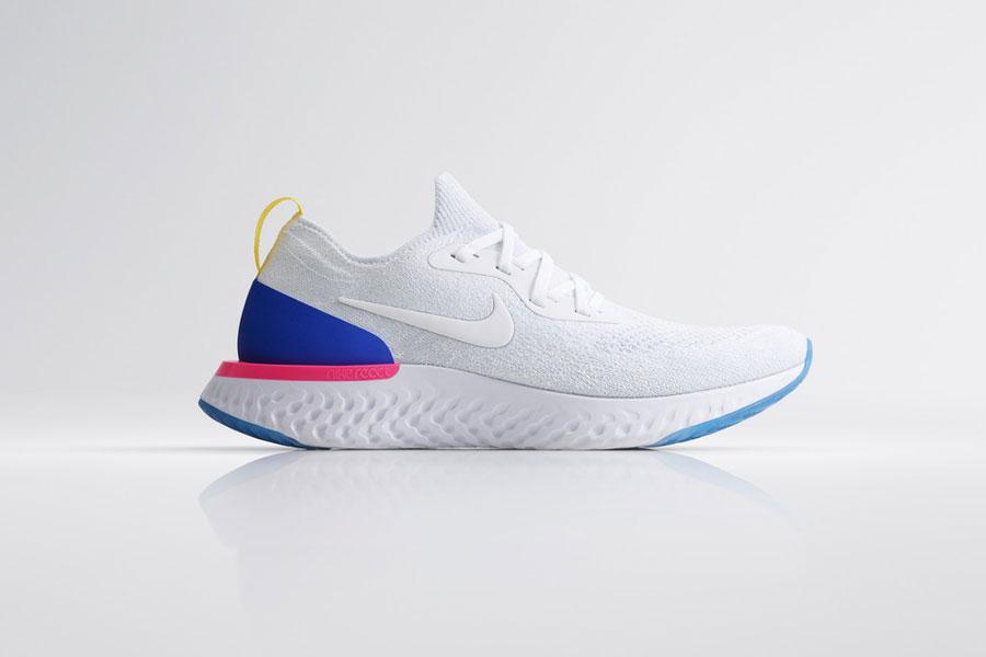 Nike Epic React Flyknit - White (Side)