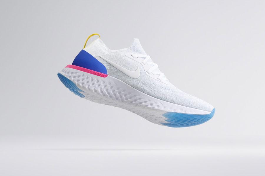 Nike Epic React Flyknit - White