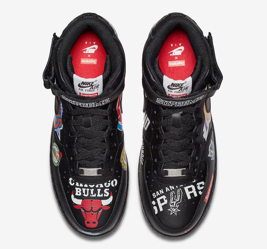 Supreme x Nike Air Force 1 Mid 07 NBA (Black) - Top