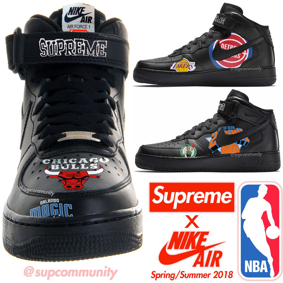 Supreme x Nike Air Force 1 Mid 07 NBA - Mock-Up (supcommunity)
