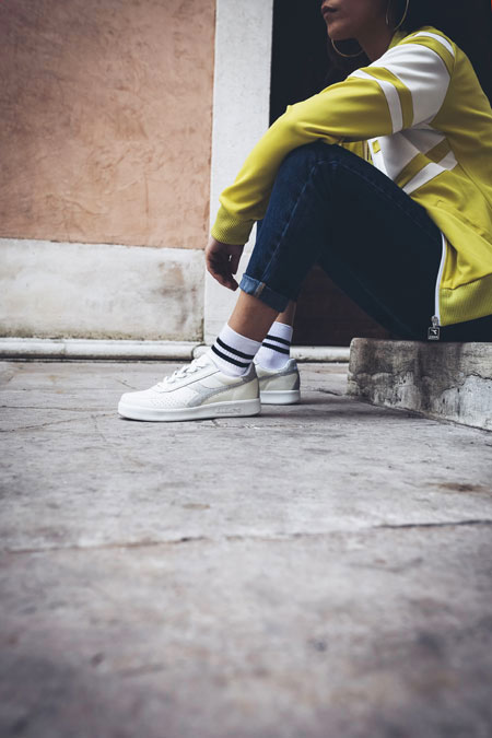 5 Facts About the Diadora B Elite - L WN White Silver (On feet)