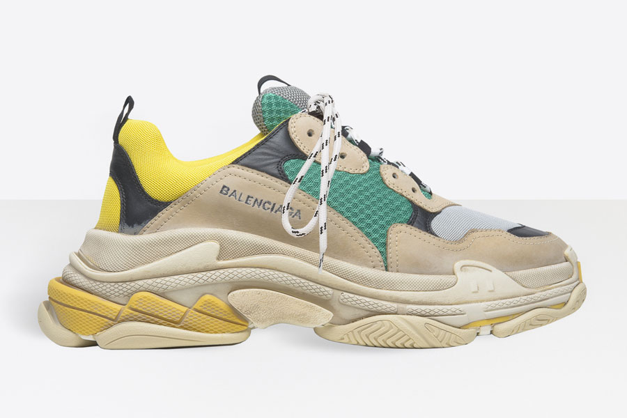5 Sneakers We Dont Want to See Anymore in 2018 - Balenciaga Triple S (Yellow Green)